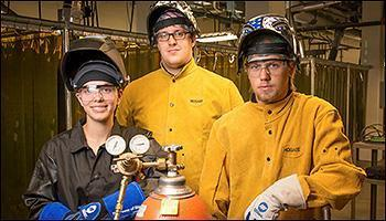 photo of welding students