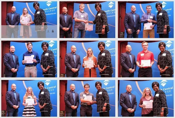 Photos of scholarship recipients